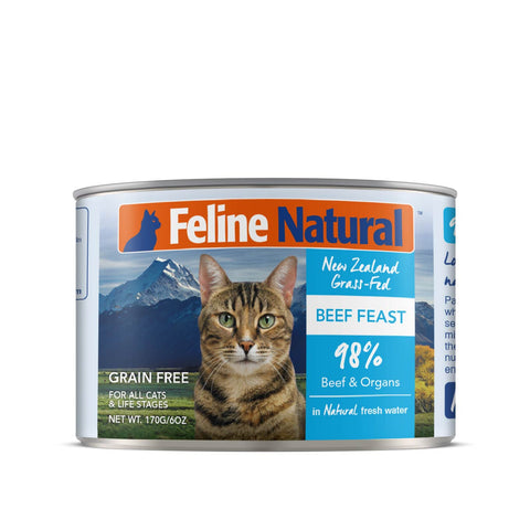 Feline Natural Beef Feast Canned Cat Food - Cats, Feline Natural, Food - Shop Vanillapup - Online Pet Shop