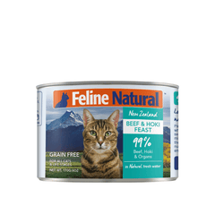 Feline Natural Beef and Hoki Feast Canned Cat Food - Cats, Feline Natural, Food - Shop Vanillapup