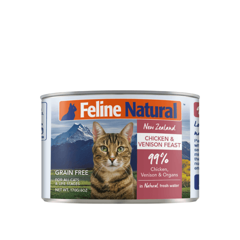 Feline Natural Chicken and Venison Canned Cat Food 170g
