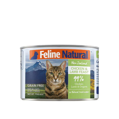 Feline Natural Chicken and Lamb Canned Cat Food 170g