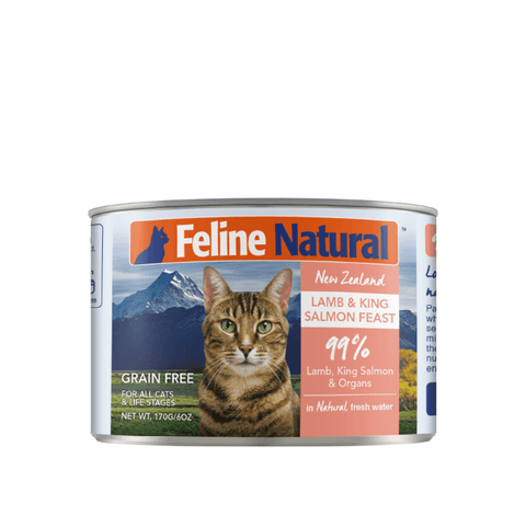 Feline Natural Lamb and King Salmon Canned Cat Food 170g