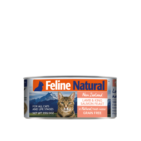 Feline Natural Lamb and King Salmon Canned Cat Food 85g