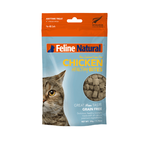 Feline Natural Chicken Healthy Bites Treats (50g) - Cats, Feline Natural, Treats - Shop Vanillapup - Online Pet Shop