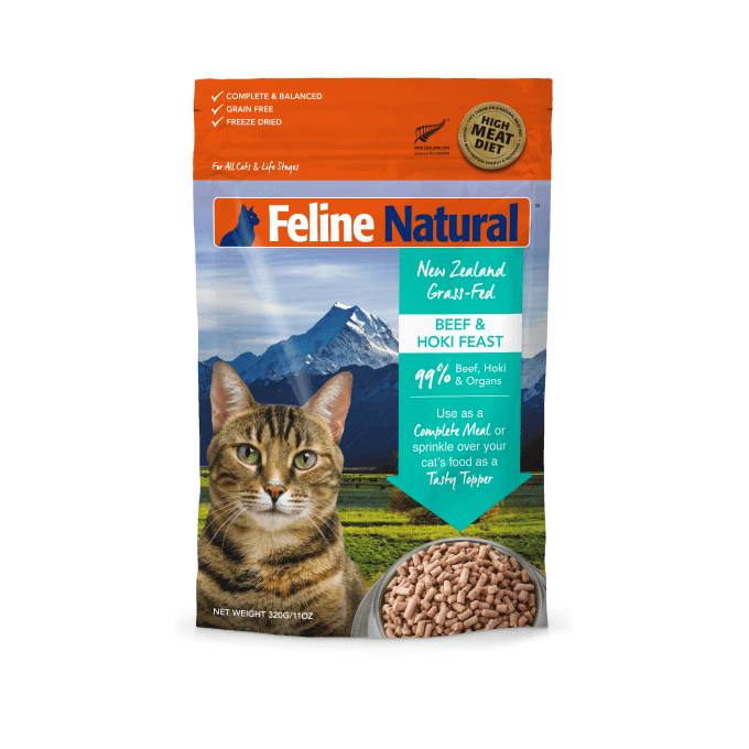 Feline Natural Freeze-dried Beef and Hoki Feast