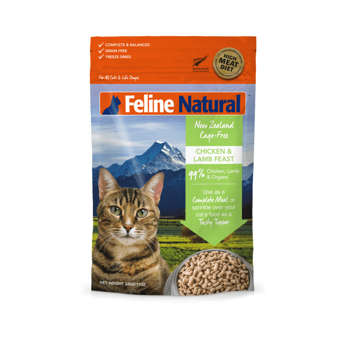 Feline Natural Freeze-dried Chicken and Lamb Feast