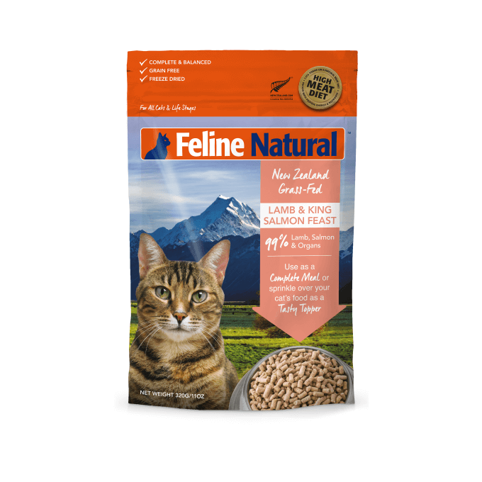 Feline Natural Freeze-dried Lamb and King Salmon Feast
