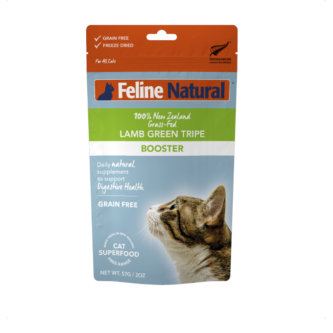 Feline Natural Lamb Green Tripe Freeze-dried Booster (57g) - Cats, Digestion, Feline Natural, Food, Health - Shop Vanillapup