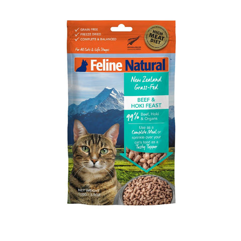Feline Natural Freeze-dried Beef and Hoki Feast - Cats, Feline Natural, Food - Shop Vanillapup - Online Pet Shop