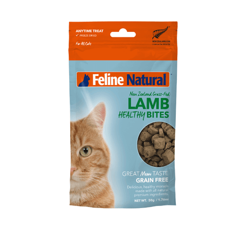 Feline Natural Lamb Healthy Bites Treats (50g) - Cats, Feline Natural, Treats - Shop Vanillapup - Online Pet Shop