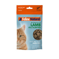 Feline Natural Lamb Healthy Bites Treats (50g) - Cats, Feline Natural, Treats - Shop Vanillapup