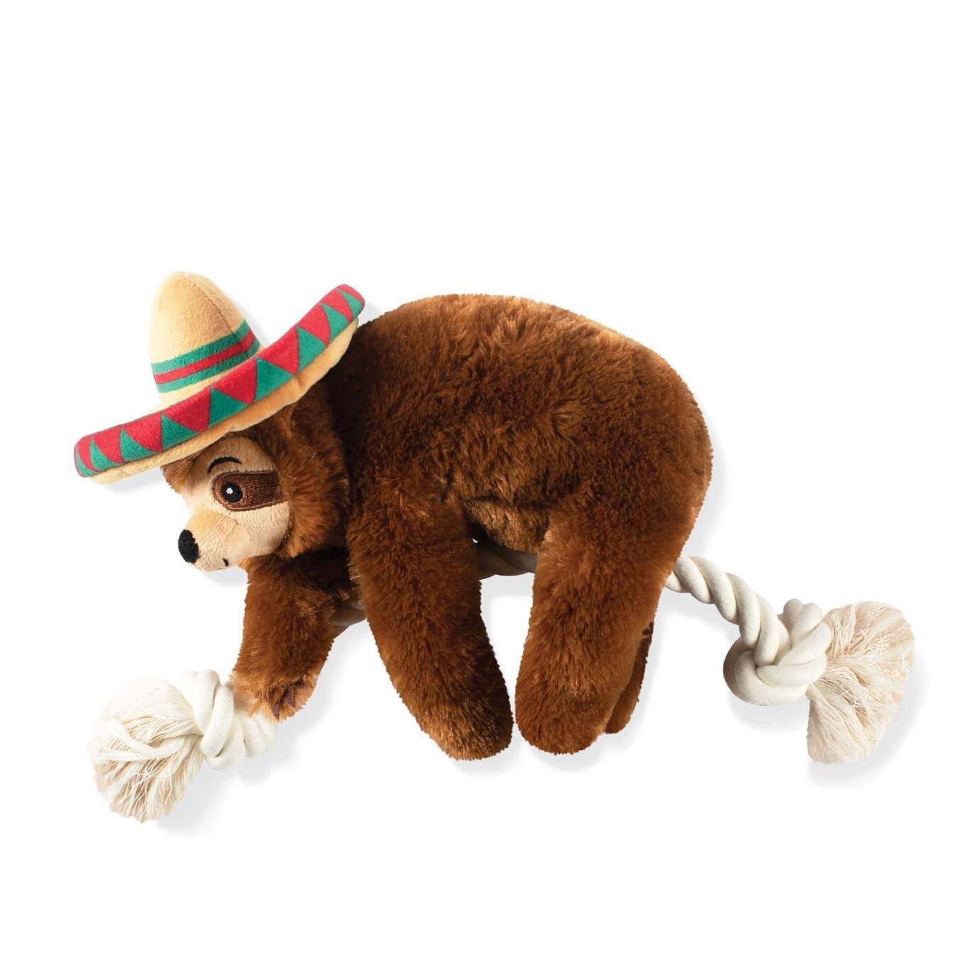 Fringe Studio Sombrero Sloth on a Rope - Vanillapup Online Pet Shop