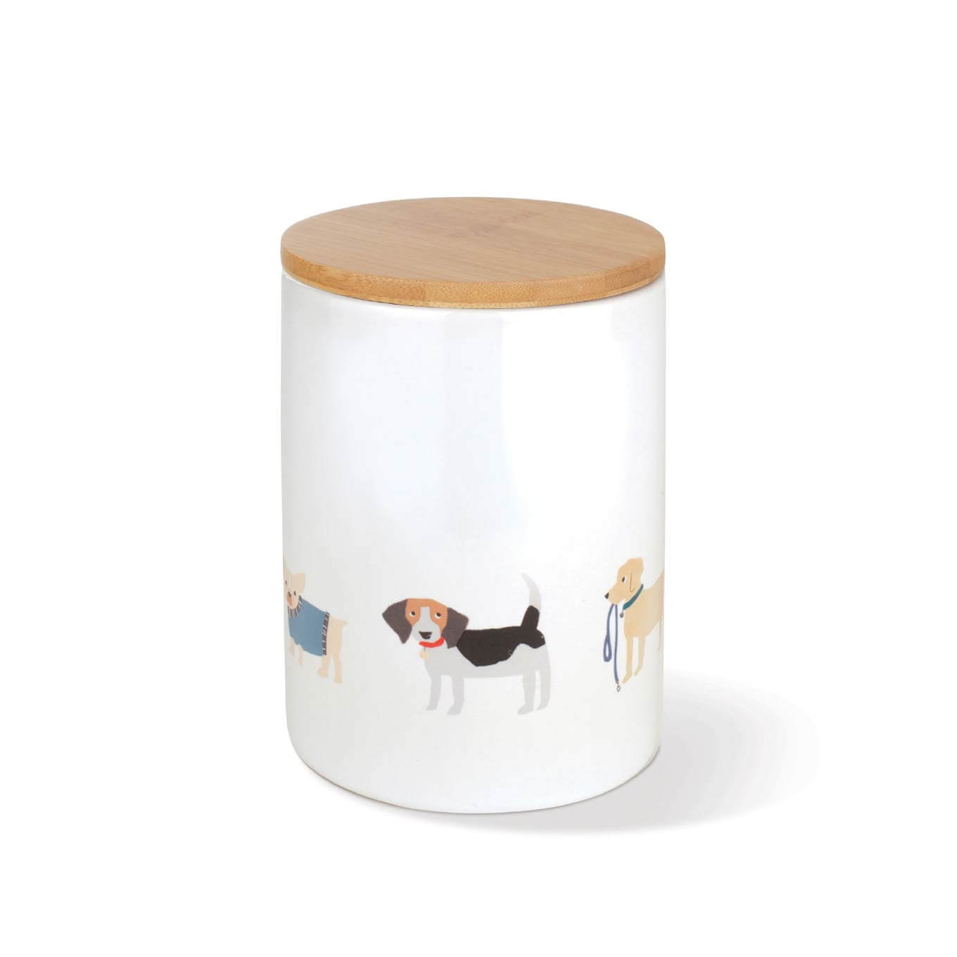Fringe Studio Happy Breeds Dog Treat Ceramic Jar - Vanillapup Online Pet Shop