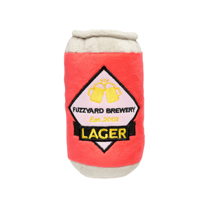 FuzzYard Lager Beer Dog Toy