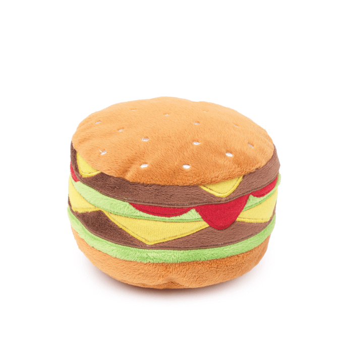 FuzzYard Hamburger Dog Toy - Shop Vanillapup Online Pet Shop