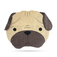 Organic Cotton Pug Head Day Bed - Vanillapup Online Pet Shop