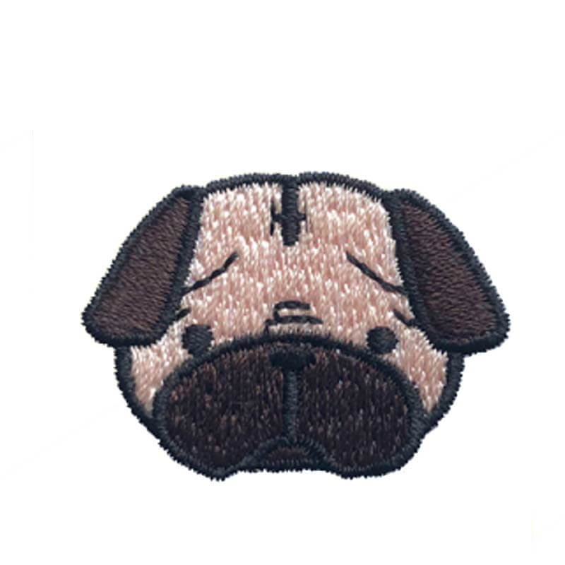 Hey Cuzzies Pug Iron On Patch - Shop Vanillapup Online Pet Shop