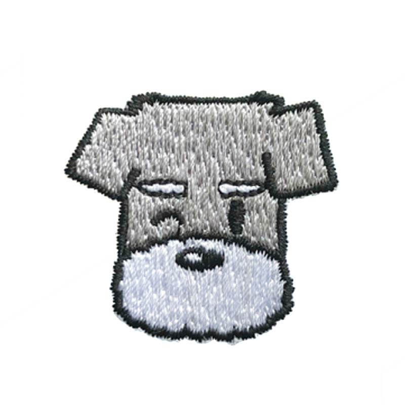 Hey Cuzzies Schnauzer Iron On Patch - Vanillapup Online Pet Shop