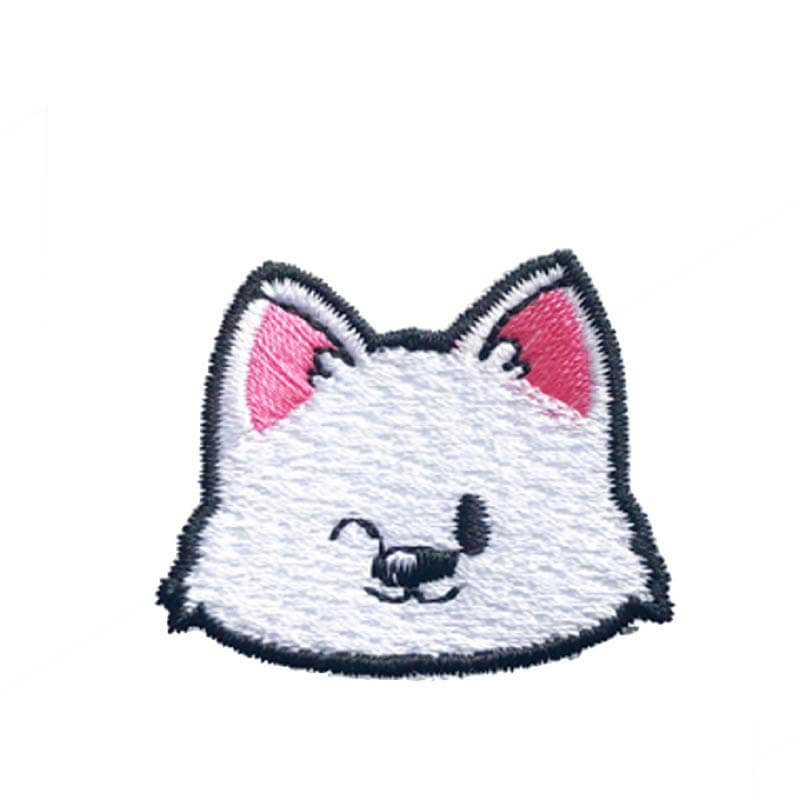 Hey Cuzzies White Ball Of Fluff Iron On Patch - Shop Vanillapup Online Pet Shop