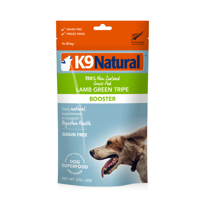 K9 Natural Freeze-dried Lamb Green Tripe Topper (57g) - Digestion, Dogs, Food, Health, K9 Natural - Shop Vanillapup