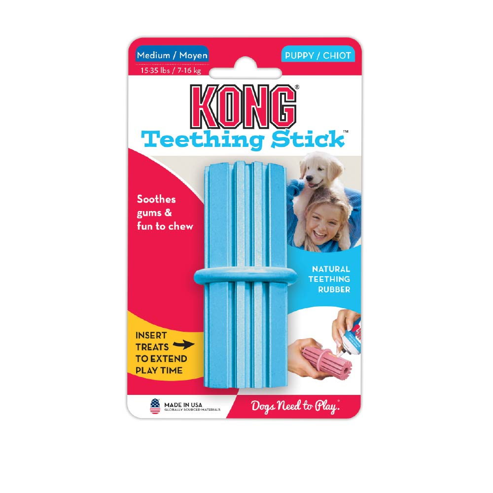 KONG Puppy Teething Stick Rubber Toy - Dogs, KONG, New Dog, Rubber Toys, Toys - Vanillapup - Online Pet Shop