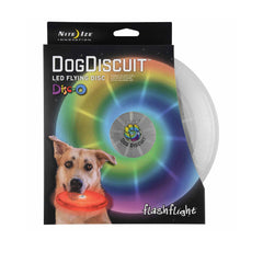 Nite Ize FlashFlight® Dog Discuit™ LED Flying Disc - Dogs, New, Nite Ize, Toys - Vanillapup - Online Pet Shop