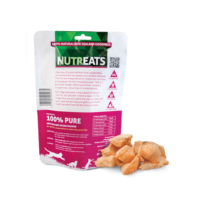 NUTREATS Ocean Salmon Bites for Cats (50g) - Cats, Nutreats, Treats - Shop Vanillapup