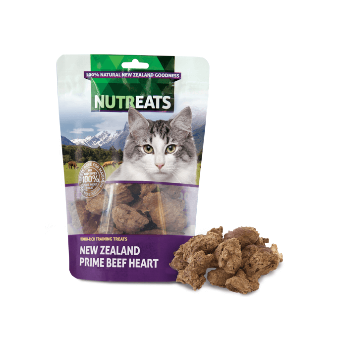 NUTREATS Beef Heart Treats for Cats (50g) - Cats, Nutreats, Treats - Shop Vanillapup