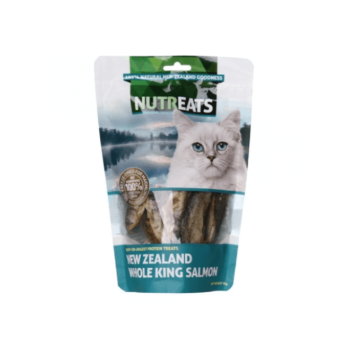 NUTREATS Whole King Salmon Treats for Cats (50g) - Shop Vanillapup Online Pet Shop