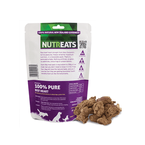NUTREATS Beef Heart Treats for Dogs (50g) - Dogs, Nutreats, Treats - Shop Vanillapup