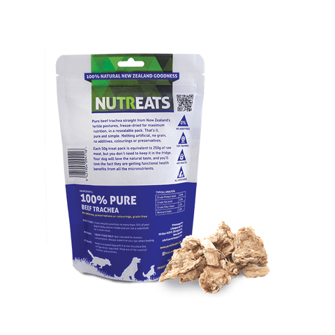 NutrEats Beef Trachea Dog Treats Back