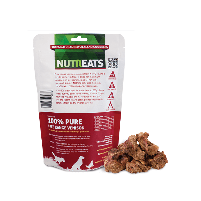 NUTREATS Venison Treats for Dogs (50g) - Dogs, Nutreats, Treats - Shop Vanillapup