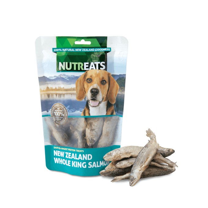 NUTREATS Whole King Salmon Treats for Dogs (50g) - Vanillapup Online Pet Shop