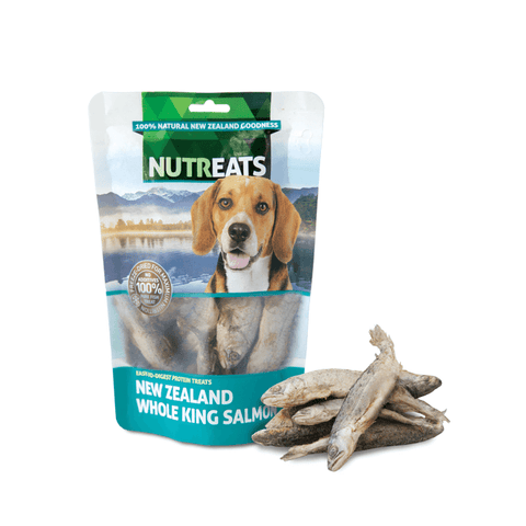 NUTREATS Whole King Salmon Treats for Dogs (50g) - Dogs, Nutreats, Treats - Shop Vanillapup
