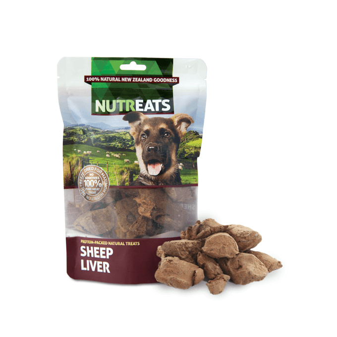 NUTREATS Sheep Liver Treats for Dogs (50g) - Vanillapup Online Pet Shop