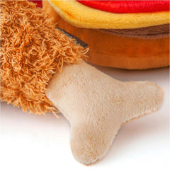 PLAY American Classic Fluffy's Fried Chicken Plush Toy - American Classic, Dogs, Latte, P.L.A.Y., Toys - Vanillapup - Online Pet Shop