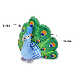 PLAY Fetching Flock Peacock Plush Toy - Shop Vanillapup Online Pet Shop