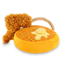 PLAY Barking Brunch Chicken & Woofles Plush Toy - Barking Brunch, Dogs, Interactive, P.L.A.Y., Toys - Vanillapup - Online Pet Shop