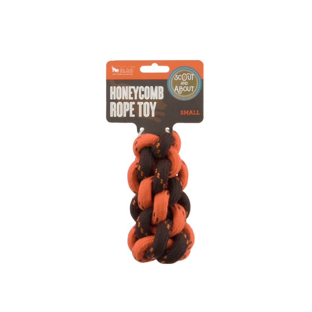 Scout & About Honeycomb Rope Toy - Vanillapup Online Pet Store