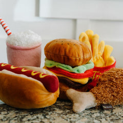 PLAY American Classic Barky Burger Plush Toy - Vanillapup Online Pet Shop