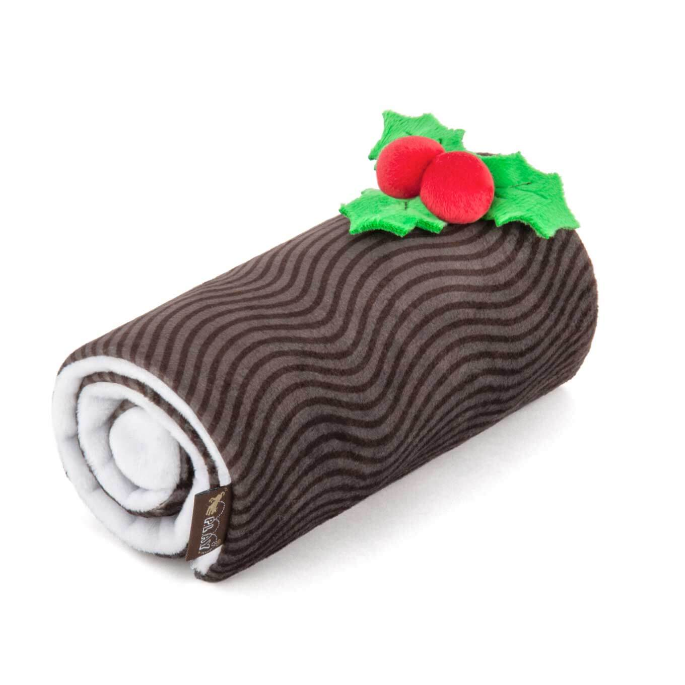 PLAY Holiday Classic Yuletide Log Plush Toy - Shop Vanillapup Online Pet Shop