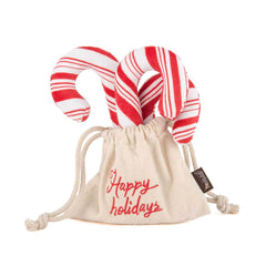 PLAY Holiday Classic Candy Canes Plush Toy - Vanillapup Online Pet Store