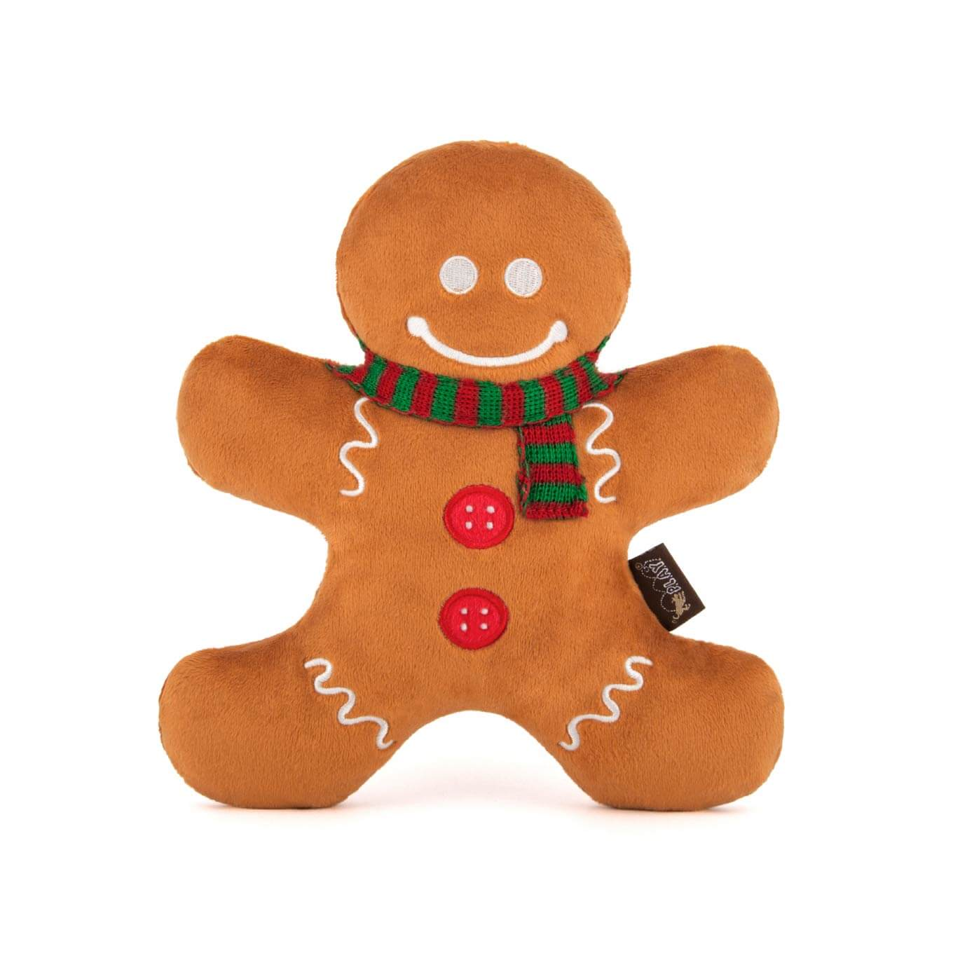 PLAY Holiday Classic Gingerbread Man Plush Toy - Vanillapup Online Pet Store