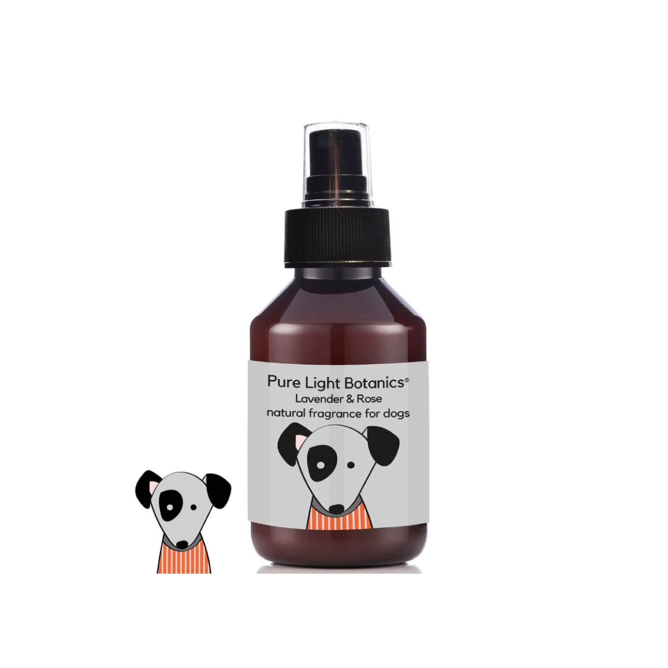 Pure Light Botanics Lavender & Rose Natural Fragrance for Dogs (100ml) - Dogs, Grooming Essentials, New, Pure Light Botanics - Shop Vanillapup - Online Pet Shop