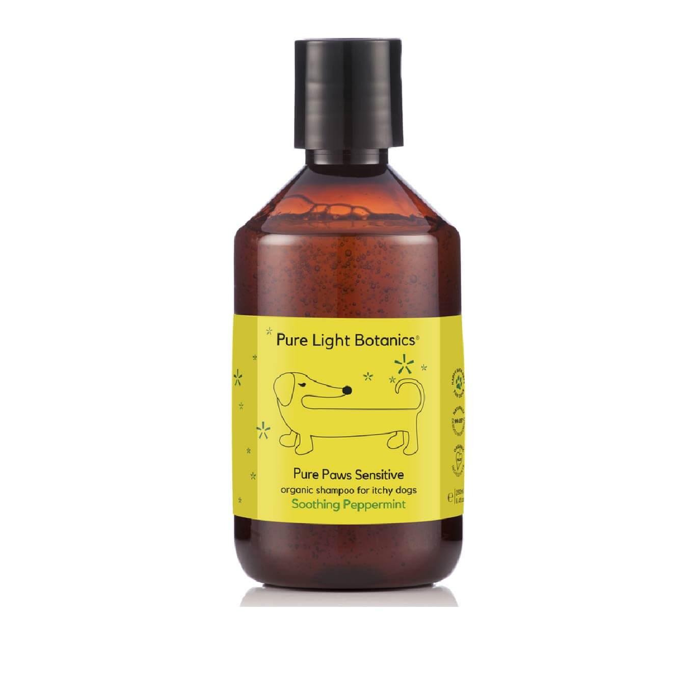 Pure Light Botanics Itchy Skin Peppermint Organic Dog Shampoo - Dogs, Flea&Tick, Grooming Essentials, Hot Spots, Latte, Paw Licking, Pure Light Botanics, Skin, Yeast - Shop Vanillapup - Online Pet Shop