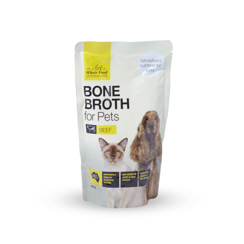 The Art of Whole Food Bone Broth | Beef - Cats, Dogs, Fussy, The Art of Whole Food, Treats - Shop Vanillapup - Online Pet Shop