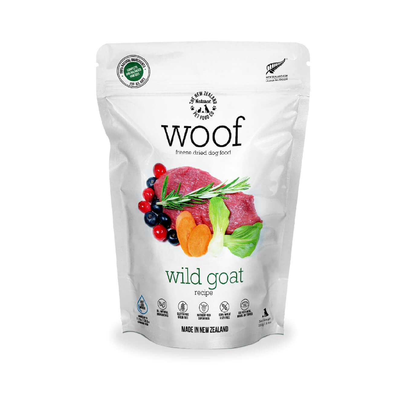 [Bundle Deal] WOOF Wild Goat Freeze-dried Dog Food | 320g/1kg - Dogs, Food, Starter Pack, WOOF - Vanillapup - Online Pet Shop