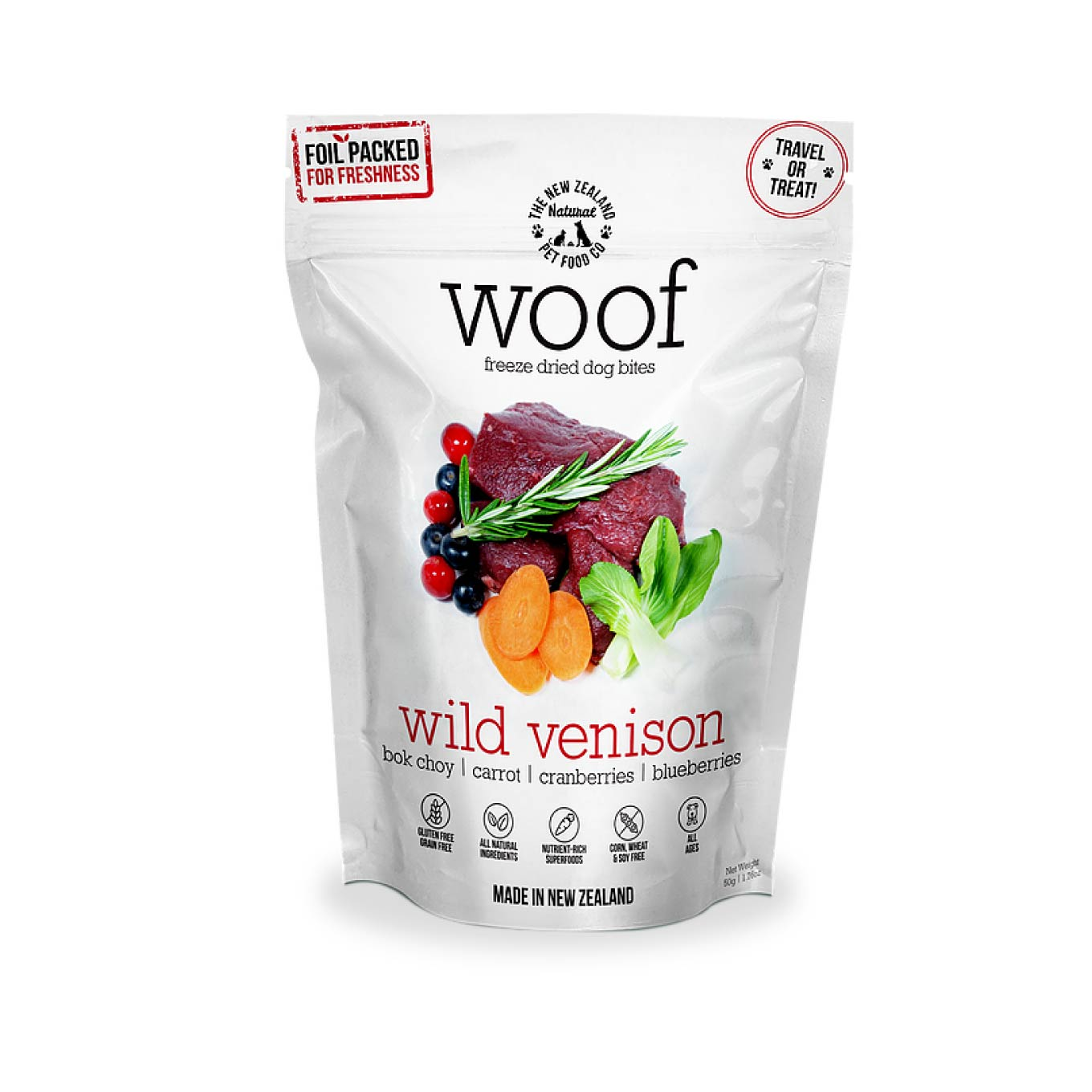 WOOF Wild Venison Freeze-dried Treats | 50g - Dogs, Treats, WOOF - Shop Vanillapup - Online Pet Shop