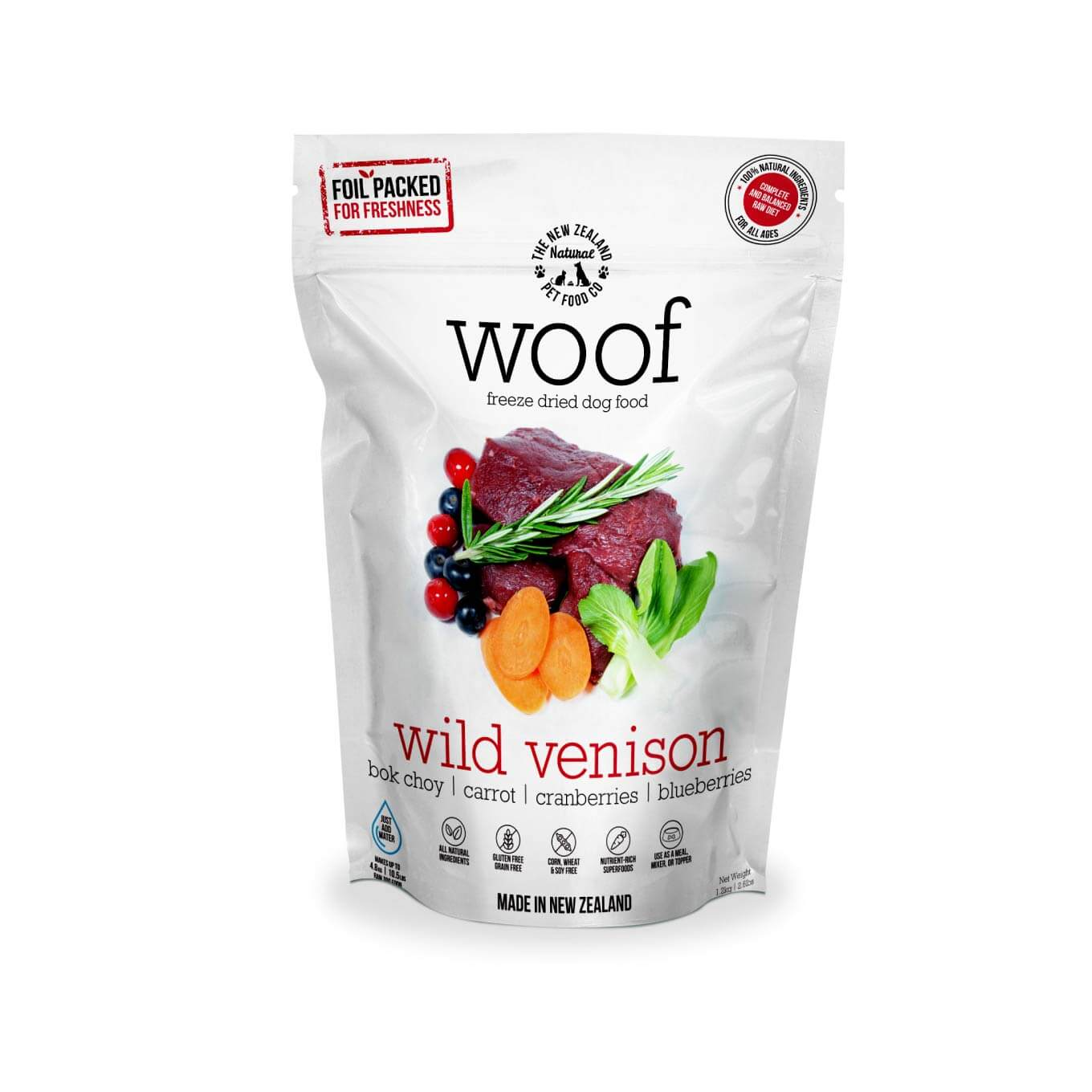 WOOF Wild Venison Freeze-dried Dog Food | 280g/1.2kg