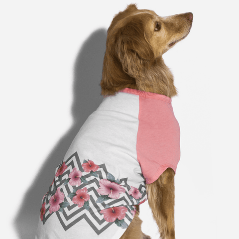 Zee.Dog Mahalo Flowers Dog T-shirt - Apparel, Dogs, Zee.Dog - Shop Vanillapup