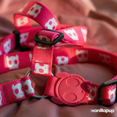 Zee.Dog Pink Skull Step-in Dog Harness - Dogs, Harnesses, PINK, Walking, Zee.Dog - Vanillapup - Online Pet Shop